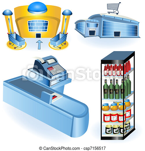 Supermarket icons 2 - csp7156517