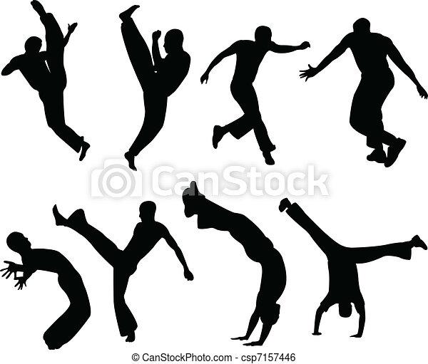 Capoeira silhouettes - csp7157446