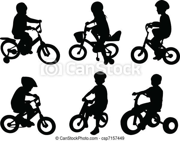 Children riding bicycle - csp7157449