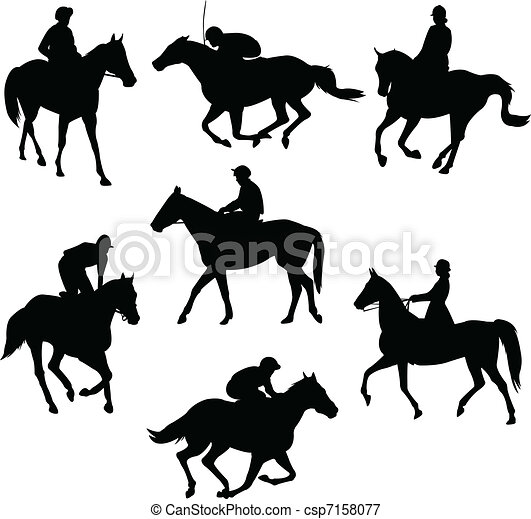 Riding horses - csp7158077