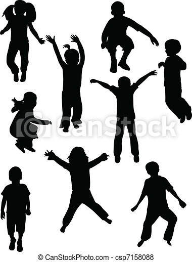 Kids silhouettes - csp7158088