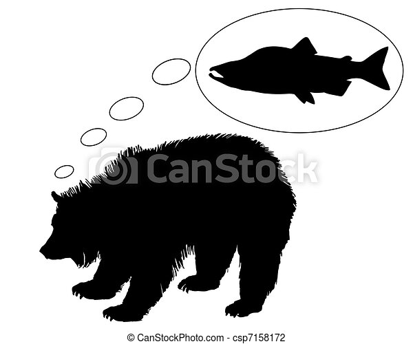 Grizzly bear diet - csp7158172