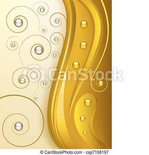 Abstract golden background - csp7158197
