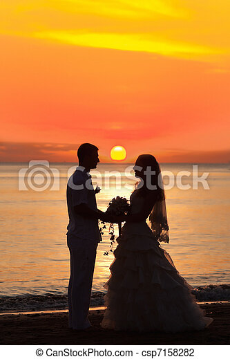 Sunrise wedding - csp7158282