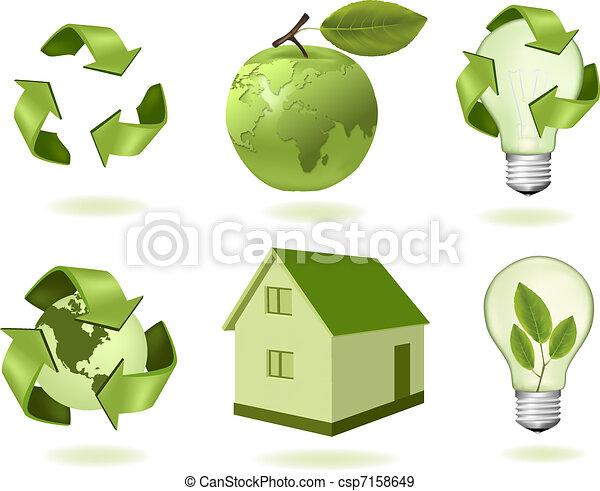 ecology icons - csp7158649