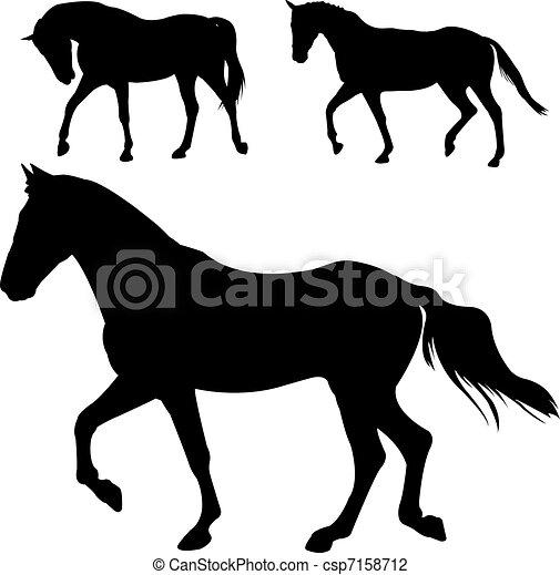 Horses silhouettes - csp7158712