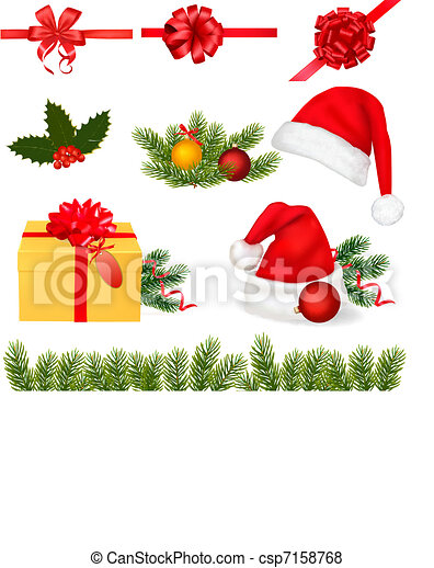 Collection of Christmas objects. - csp7158768