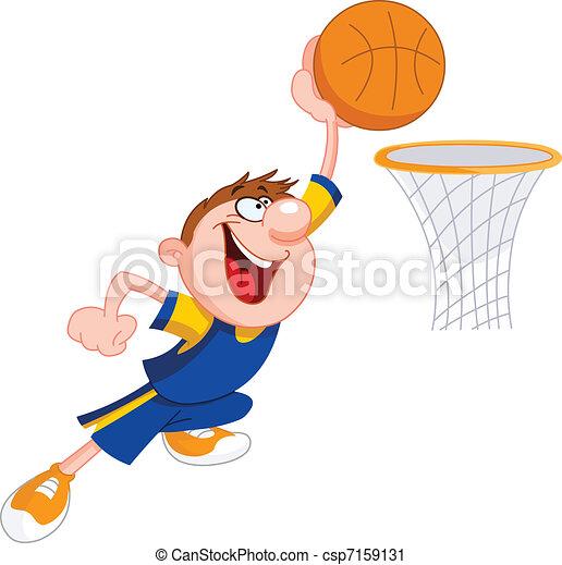 Basketball kid - csp7159131
