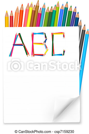 Back to school. Notepad  - csp7159230