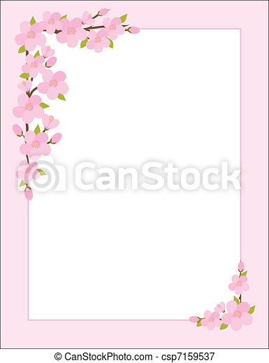 Apple Blossom Border - csp7159537