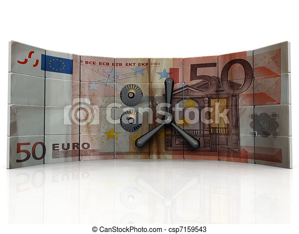 Safety and Security euro bank - csp7159543