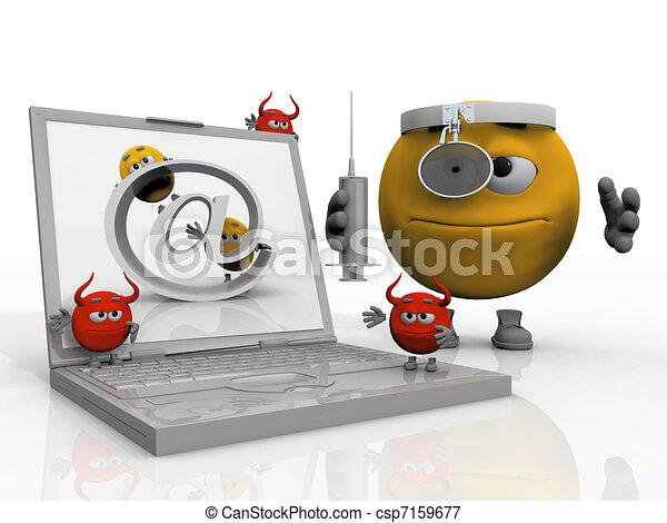 Virus Informatique Logo Informatique Virus