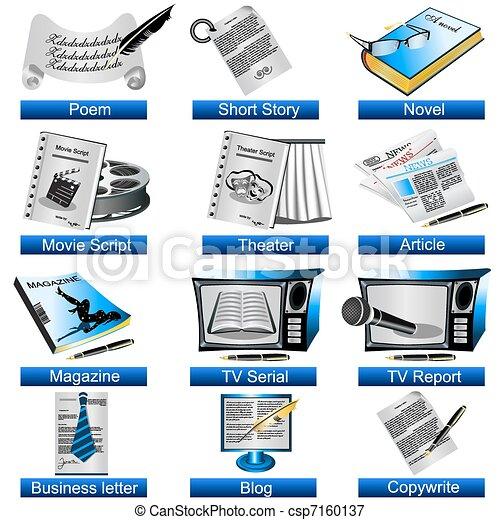 Writing Icons - csp7160137