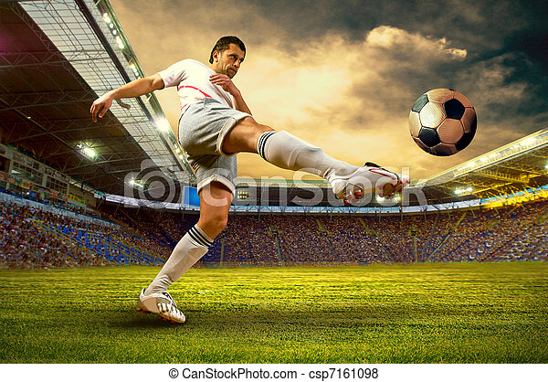 Football player on field of stadium - csp7161098