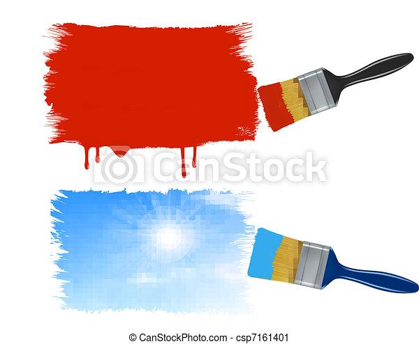 Vector clip art de brochas banderas pintura dos two brochas pintura csp7161401 - Brochas pintura ...