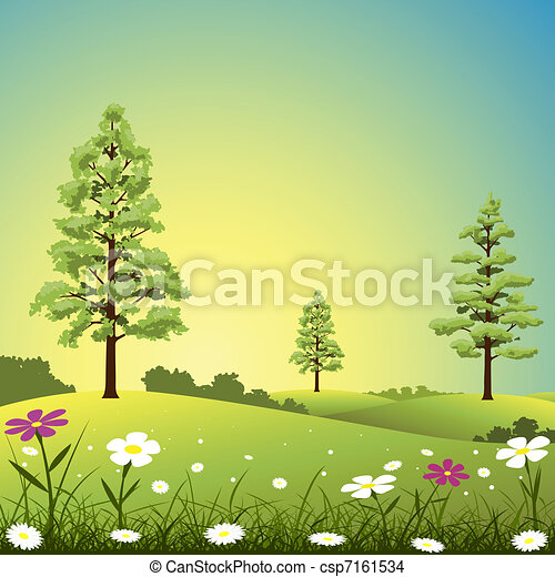 Country Landscape - csp7161534