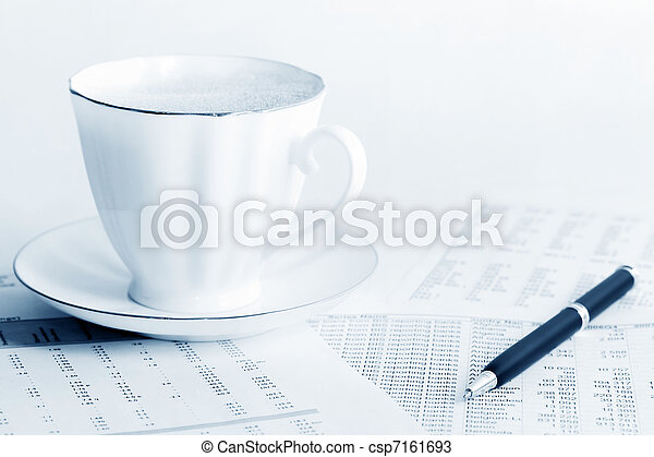 Coffee and accounting - csp7161693