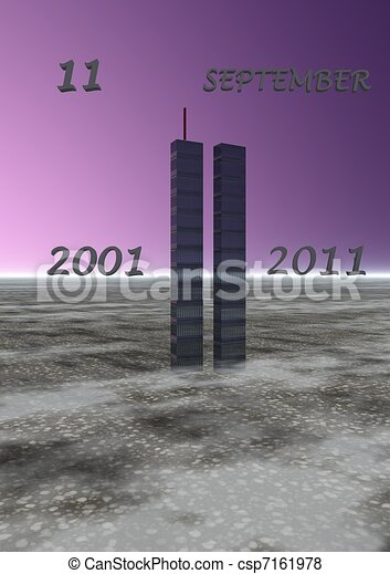 Stock Illustration of world trade center - landscape world trade ...