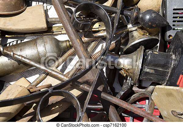 various old junk at a flea market - csp7162100