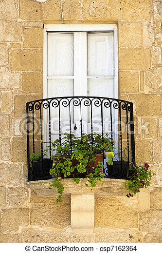 Quaint Little Balcony - csp7162364