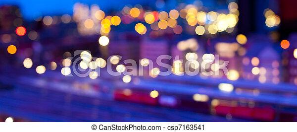 Blurred urban night scene