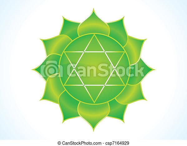 detailed heart chakra - csp7164929