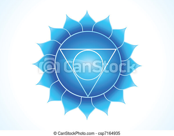 detailed throat chakra - csp7164935