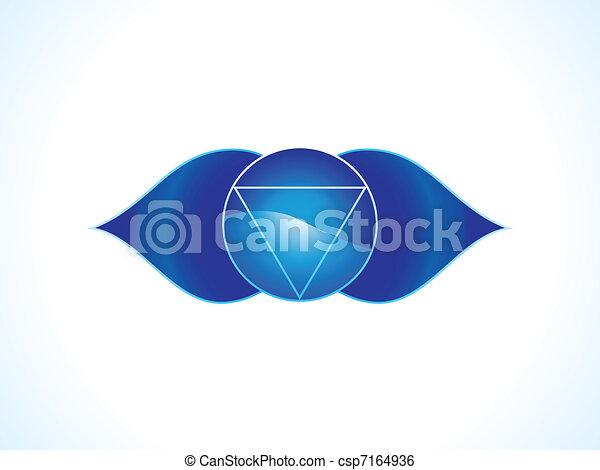 detailed brow chakra - csp7164936