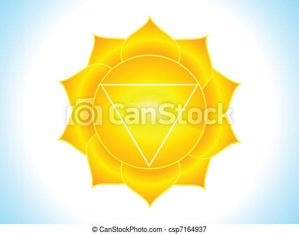 detailed solar plexus chakra - csp7164937