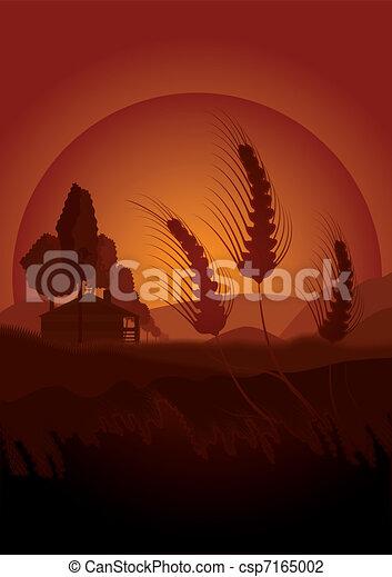 Summertime farming concept - csp7165002