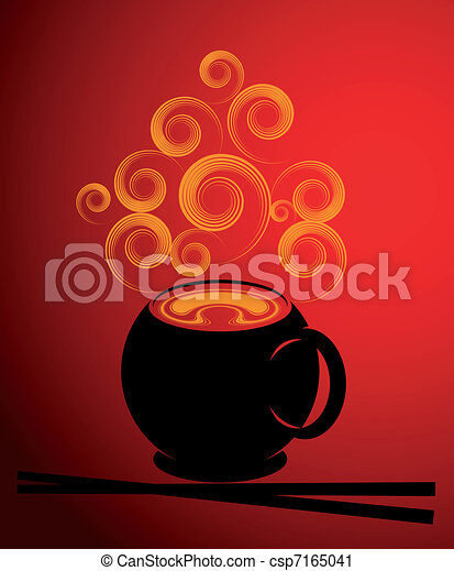 Soup illustration - csp7165041