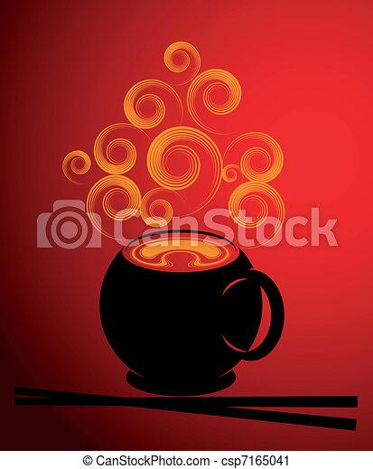 Soup illustration - csp7165041
