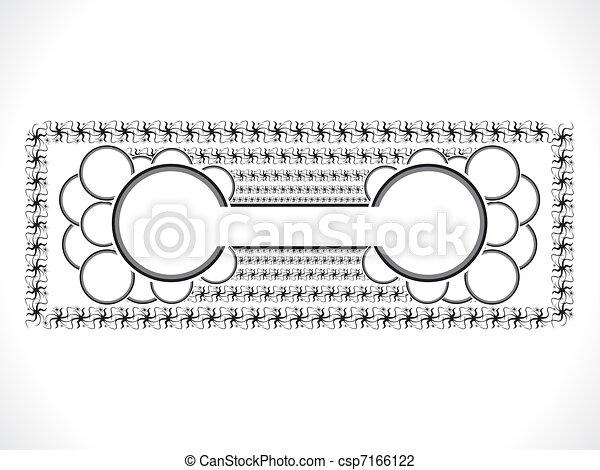 abstract ornamental circle border - csp7166122
