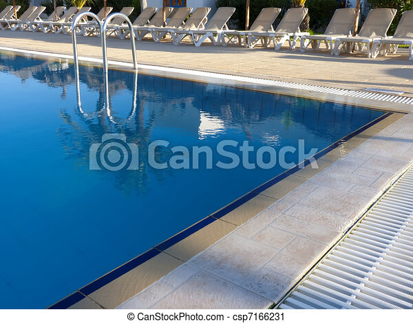 Clipart of swimming pool csp7166231 search clip art for Swimming pool drawing