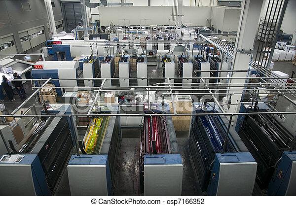 Press printing - Offset machine - csp7166352