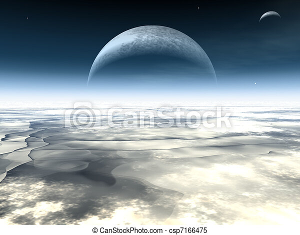 Moons in the horizon - csp7166475