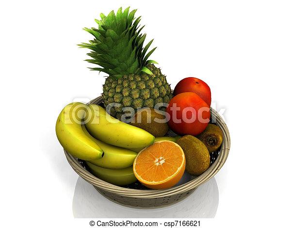 Fruit Bowl Line Drawing Fruit Bowl Csp7166621