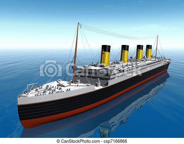 Illustration de bateau titanic titanic bateau csp7166866 recherchez des clip art des - Dessin du titanic ...