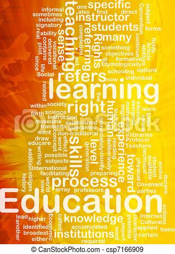 Education background concept - csp7166909