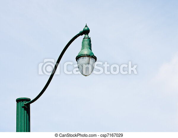 Stock Photographs of Old Style Green Lamp Post - An old fashioned ...