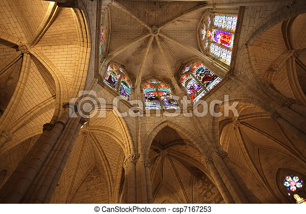 gothic church chancel - csp7167253