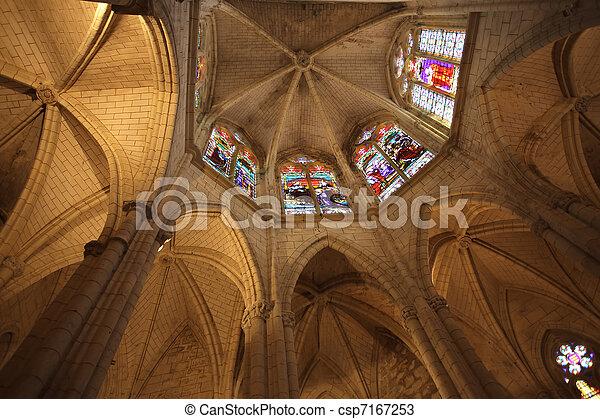 gothic church chancel - csp7167253