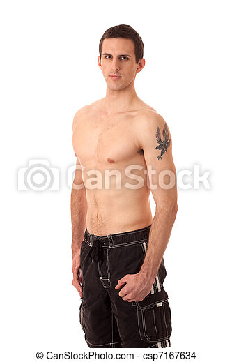 Man in Swimwear - csp7167634