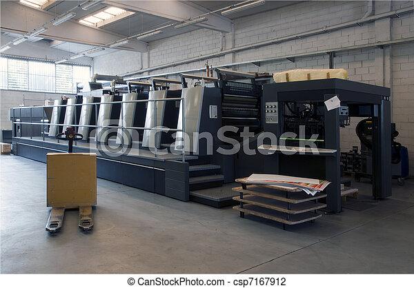 Press printing - Offset machine - csp7167912