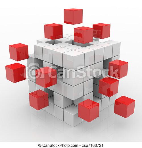 Cube assembling from blocks - csp7168721