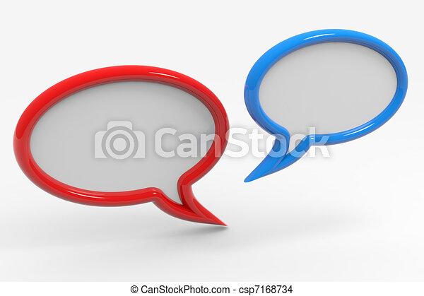 Bubble talk - csp7168734