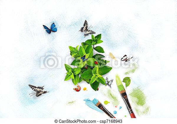peinture,  nature - csp7168943