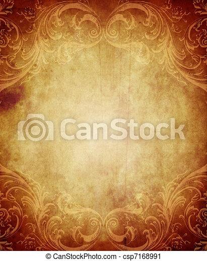 Vintage Paper Background - csp7168991