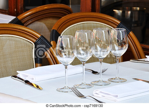 Typical French bistro - csp7169130