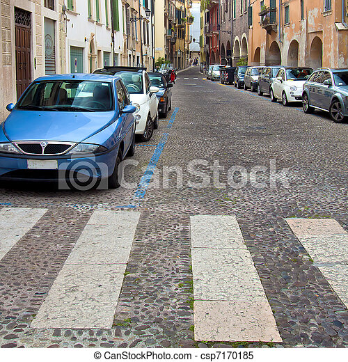 Urban street in Verona Italy - csp7170185